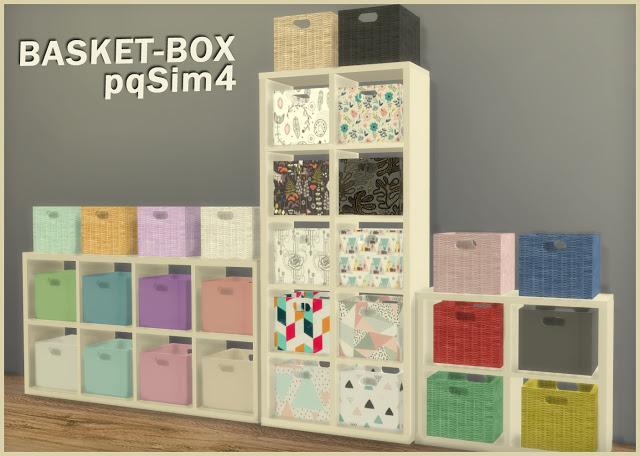 Sims 4 Basket Box at pqSims4
