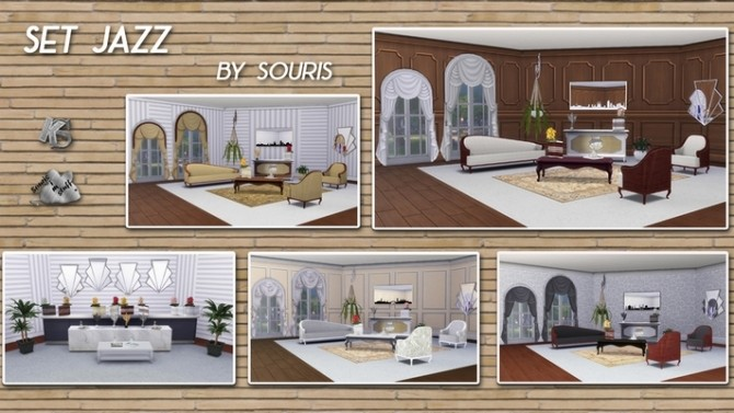 JAZZ living room by Souris at Khany Sims image 10019 670x377 Sims 4 Updates