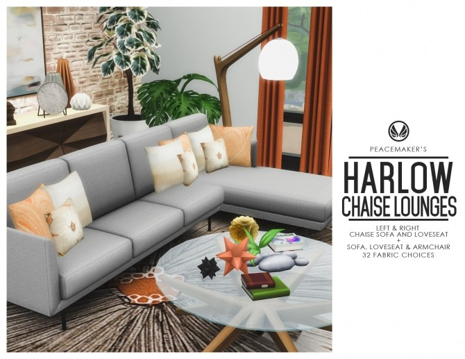 Harlow Chaise Lounges Contemporary Seating Set at Simsational Designs image 10113 670x517 Sims 4 Updates
