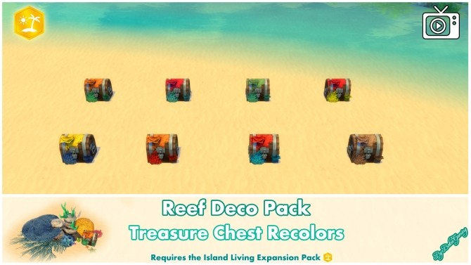 Reef Deco Pack by Bakie at Mod The Sims image 1016 670x377 Sims 4 Updates