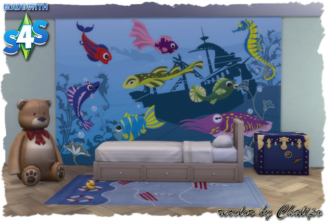 Sims 4 Wall Decalls for kids by Chalipo at All 4 Sims