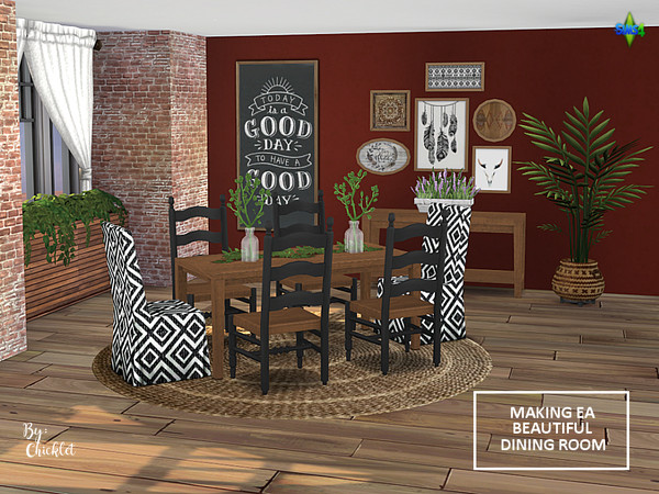 Making EA Beautiful Dining Room Set by Chicklet453681 at TSR image 1020 Sims 4 Updates