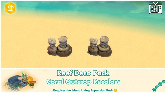 Reef Deco Pack by Bakie at Mod The Sims image 1023 670x377 Sims 4 Updates