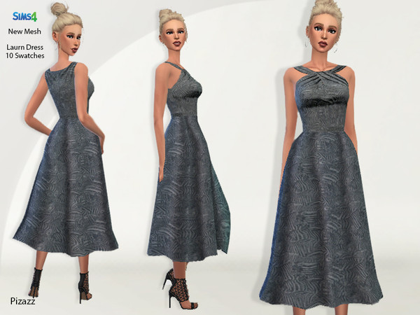 Sims 4 Laurn Dress by pizazz at TSR