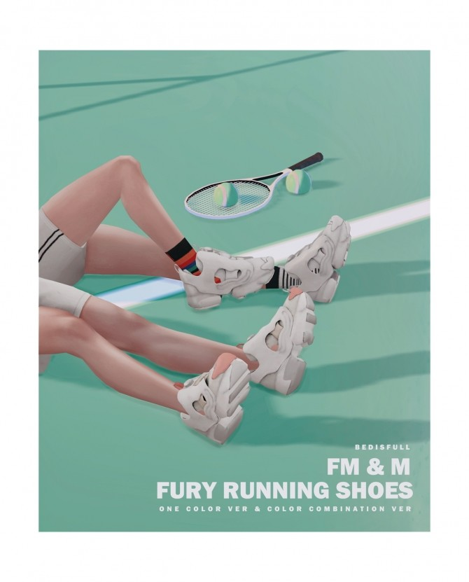 FM&M Fury running shoes at Bedisfull – iridescent image 103 670x831 Sims 4 Updates