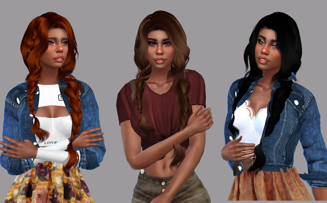 Sims 4 Wings Hair OE0316 Recolor at Teenageeaglerunner