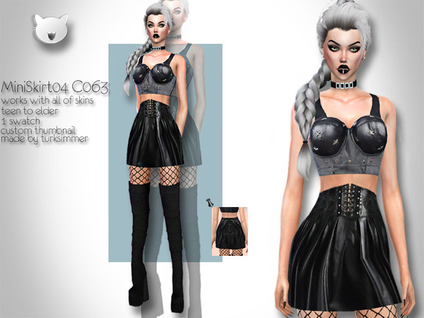 Mini Skirt 04 C063 by turksimmer at TSR image 1039 Sims 4 Updates