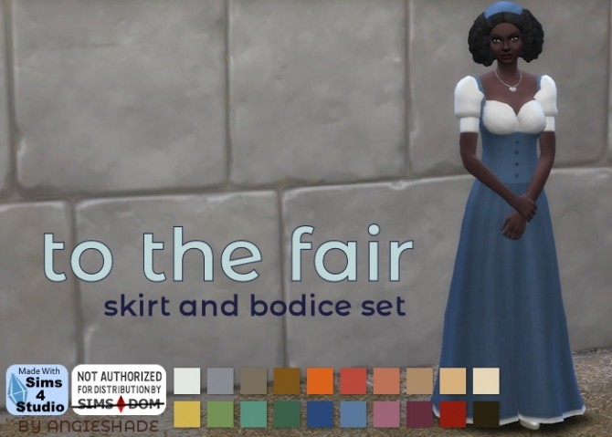 To he fair bodice and skirt set at AngieShade – Intermittent simblr image 10518 670x479 Sims 4 Updates