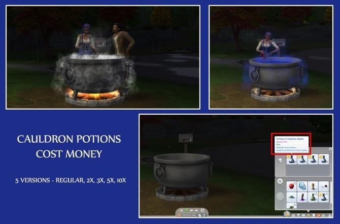 Sims 4 CAULDRON POTIONS COST MONEY at Icemunmun