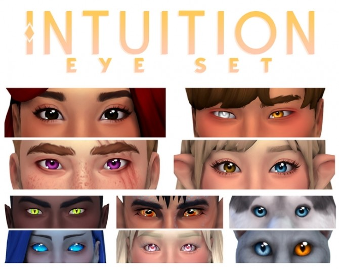 Sims 4 Intuition eye set at Simandy