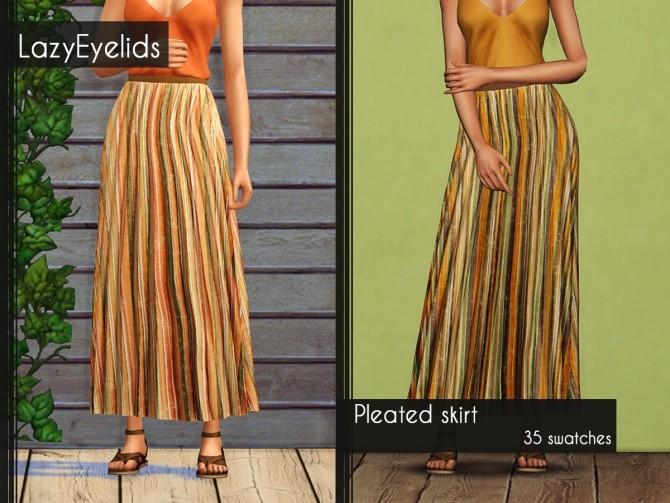 Pleated skirt at LazyEyelids image 1076 670x503 Sims 4 Updates