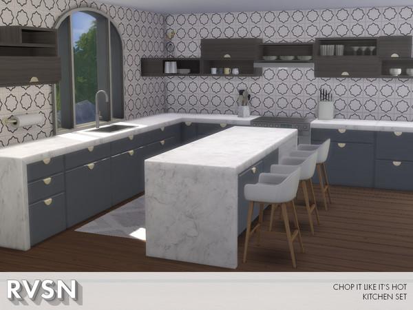 Chop It Like Its Hot Kitchen Set by RAVASHEEN at TSR image 1080 Sims 4 Updates