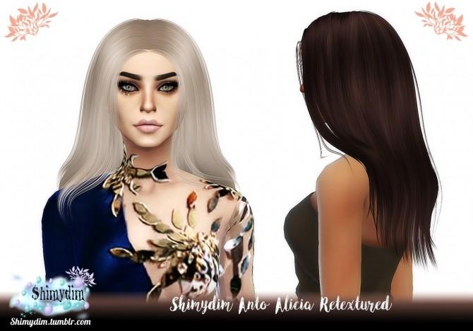 Sims 4 Anto Alicia Hair Retexture Naturals + Unnaturals at Shimydim Sims