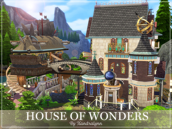 Sims 4 House of Wonders by Xandralynn at TSR