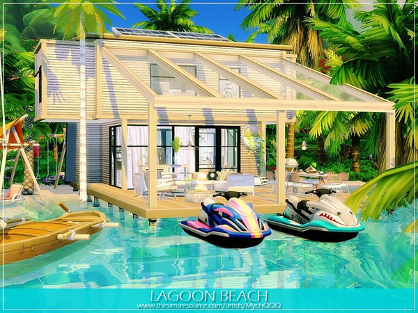 Lagoon Beach house by MychQQQ at TSR image 11105 Sims 4 Updates