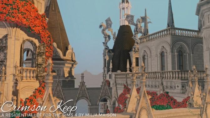 Sims 4 CRIMSON KEEP fantasy castle at Milja Maison