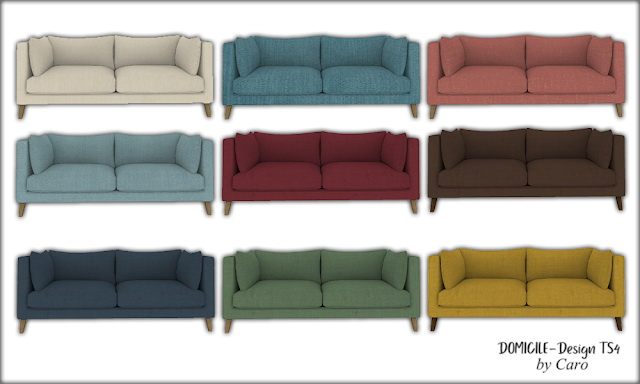 Sweet September sofa, pillows, dresser, plant & lamp at DOMICILE Design TS4 image 1116 Sims 4 Updates