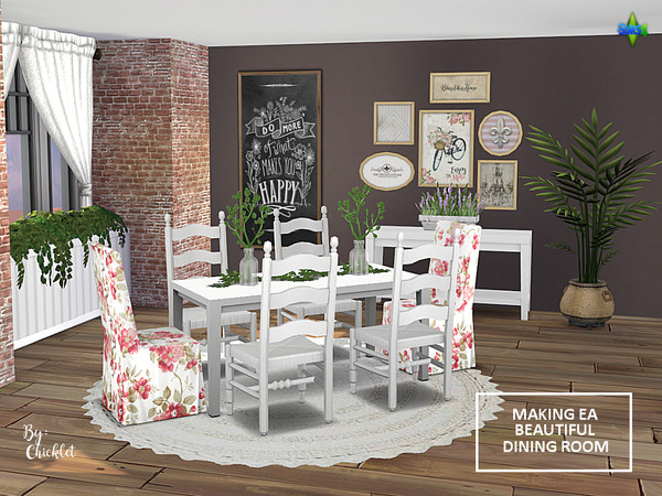 Making EA Beautiful Dining Room Set by Chicklet453681 at TSR image 1120 Sims 4 Updates