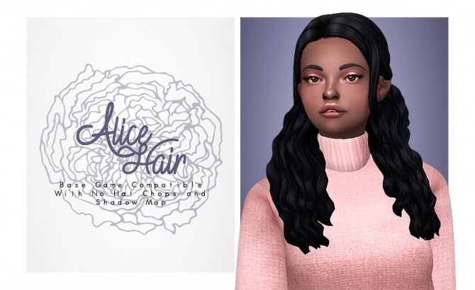 Sims 4 Alice Hair at Isjao – working on uni