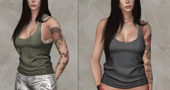 Sims 4 Tank Top at Darte77