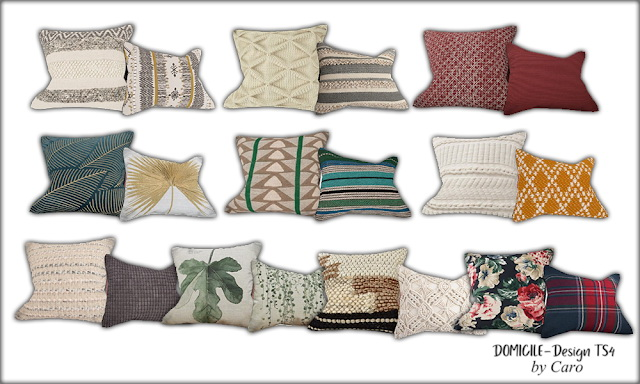 Sweet September sofa, pillows, dresser, plant & lamp at DOMICILE Design TS4 image 1123 Sims 4 Updates