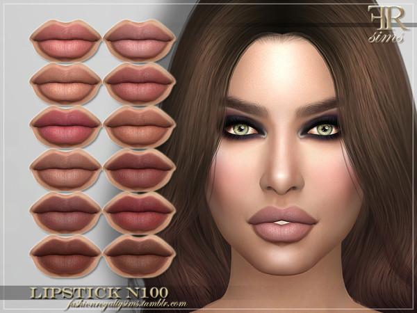 Sims 4 FRS Lipstick N100 by FashionRoyaltySims at TSR