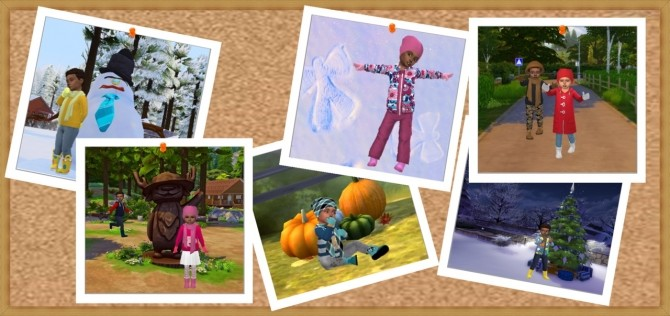Sims 4 WINTER TODDLER'S SET at Sims4Sue