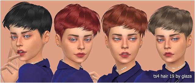 Sims 4 Hair 19 (P) at All by Glaza