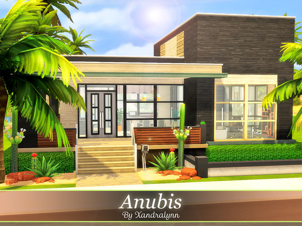 Anubis modern two story house by Xandralynn at TSR image 1159 Sims 4 Updates