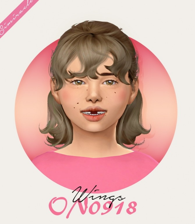 Sims 4 Wings ON0918 Hair Kids Version at Simiracle