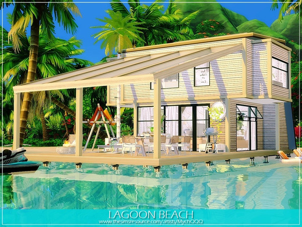 Lagoon Beach house by MychQQQ at TSR image 12102 Sims 4 Updates
