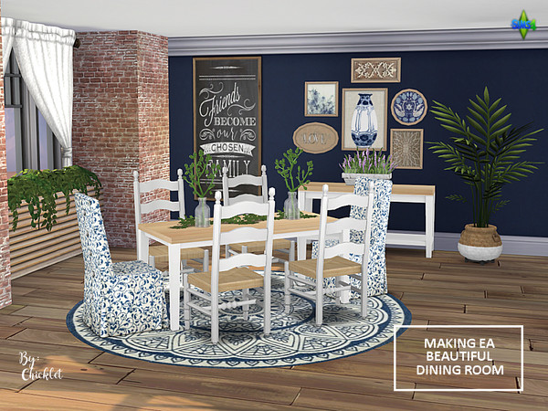 Making EA Beautiful Dining Room Set by Chicklet453681 at TSR image 1220 Sims 4 Updates