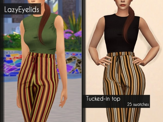 Sims 4 Tucked in top at LazyEyelids