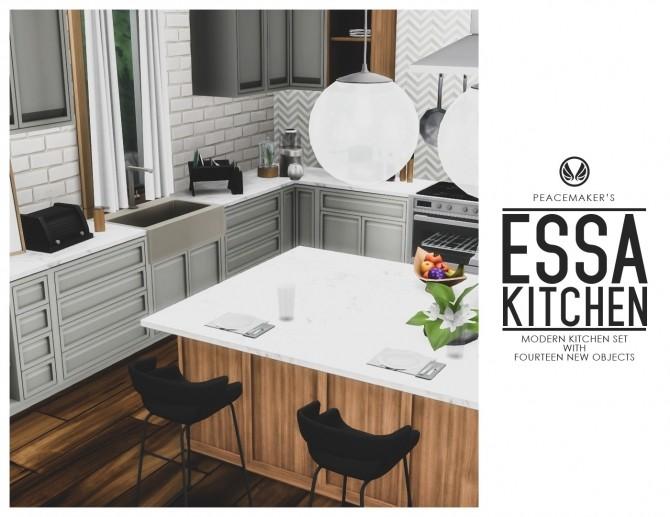 Essa Modern Kitchen Set 14 New Objects at Simsational Designs image 12411 670x517 Sims 4 Updates