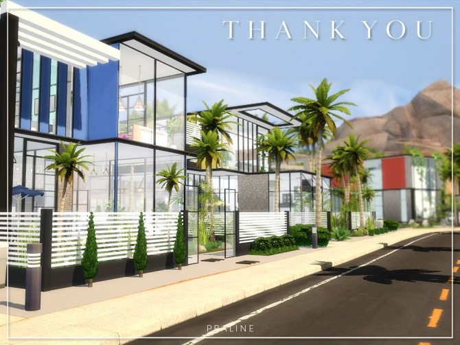 13.000 Followers Gift   21 lots by Praline at Cross Architecture image 1248 670x503 Sims 4 Updates