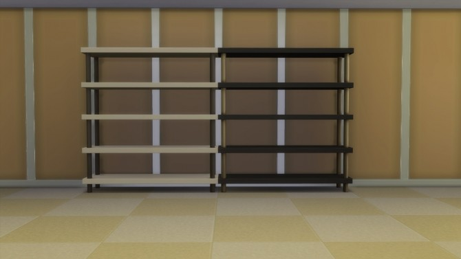 Sims 4 Empty Get to Work Bookshelves with Slots by Teknikah at Mod The Sims