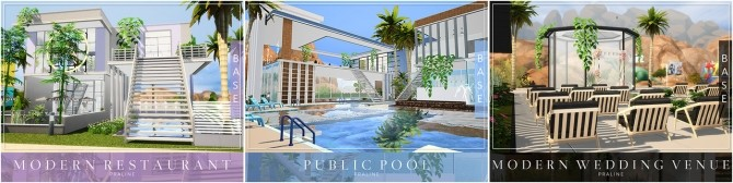 13.000 Followers Gift   21 lots by Praline at Cross Architecture image 1277 670x168 Sims 4 Updates