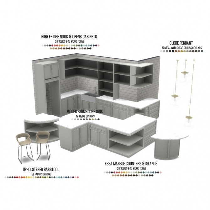 Essa Modern Kitchen Set 14 New Objects at Simsational Designs image 12810 670x670 Sims 4 Updates