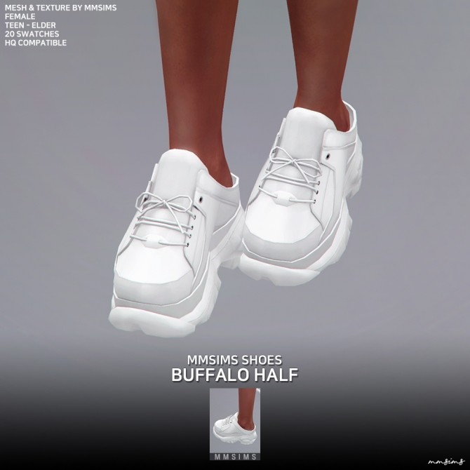 Sims 4 Buffalo Sneakers Half AF at MMSIMS