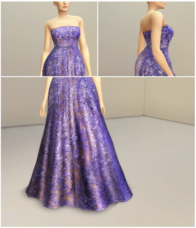 Sims 4 SS 2014 Couture Collection I 1 long dress at Rusty Nail