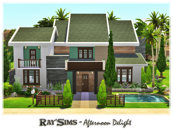 Sims 4 Afternoon Delight house by Ray Sims at TSR