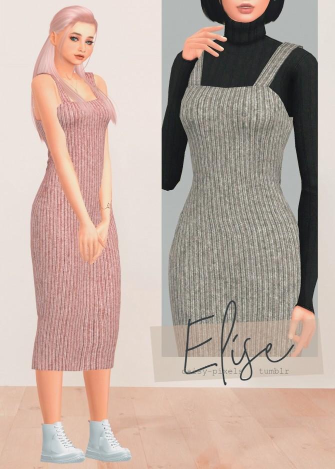 Elise dress at Daisy Pixels image 13114 670x937 Sims 4 Updates