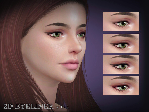 Sims 4 Eyeliners 201903 by S Club LL at TSR