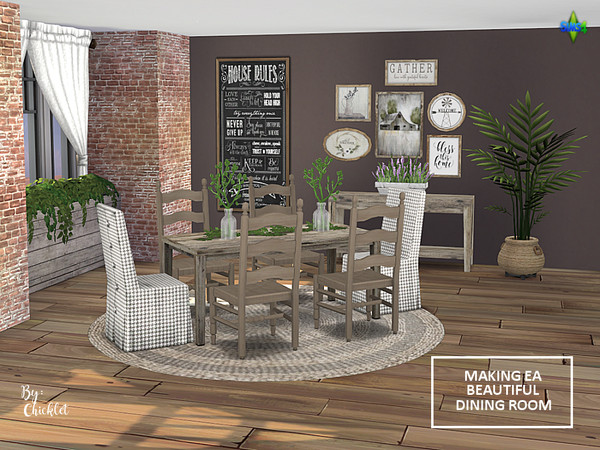 Making EA Beautiful Dining Room Set by Chicklet453681 at TSR image 1319 Sims 4 Updates
