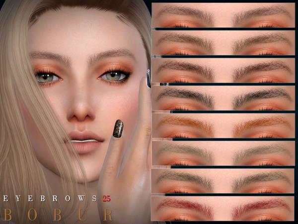 Sims 4 Eyebrows 25 by Bobur3 at TSR