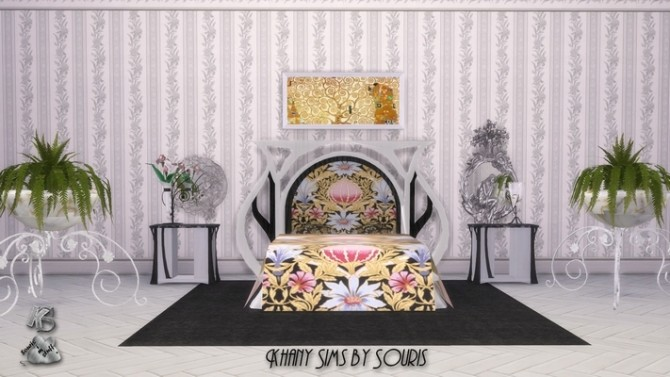 Sims 4 Art Nouveau bedroom by Souris at Khany Sims