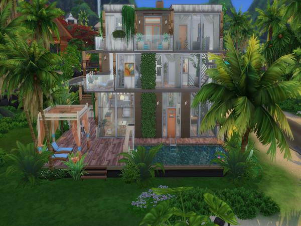 Sims 4 Modern Tropical Flat by LJaneP6 at TSR
