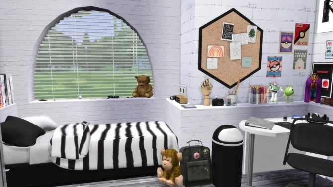 Sims 4 PRE TEEN BOYS BEDROOM at MODELSIMS4