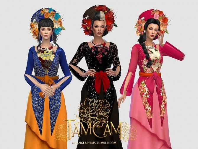 Sims 4 Tấm Cám Vietnamese traditional clothes at HoangLap's Sims