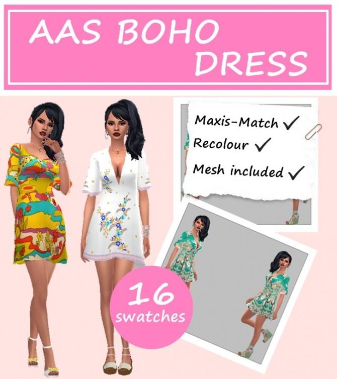 Sims 4 BOHO DRESS at Sims4Sue